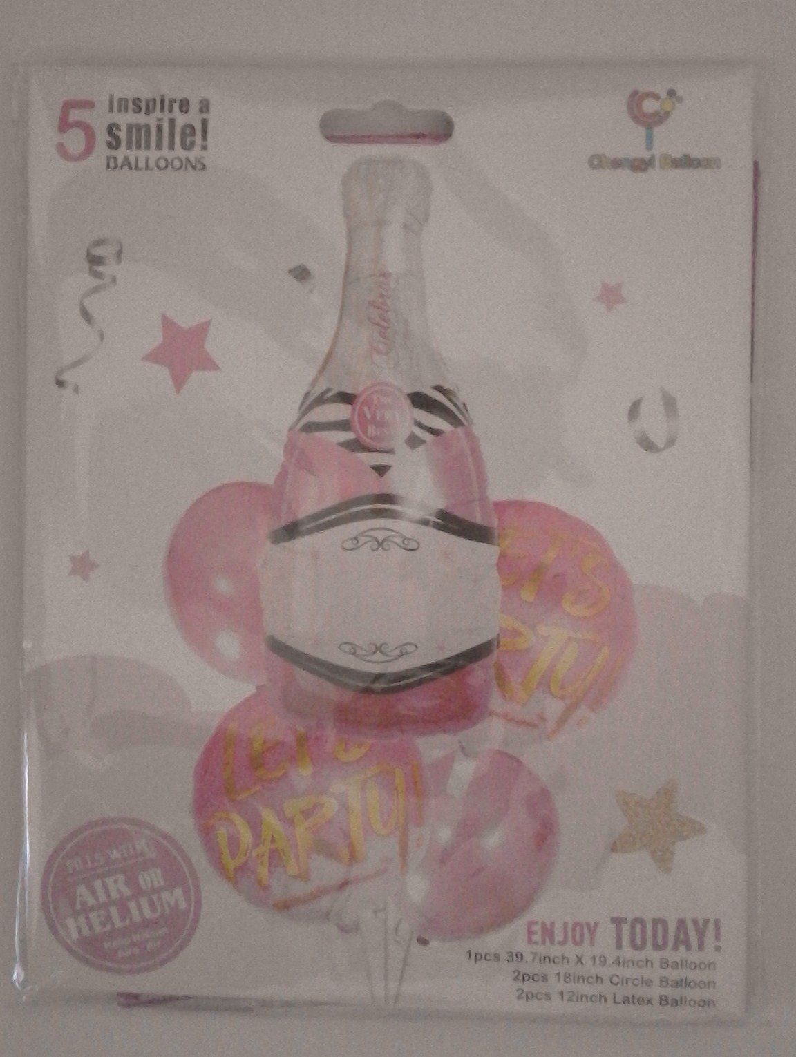 champagne--let's-party--foil-&amp-latex-balloons-5-piece