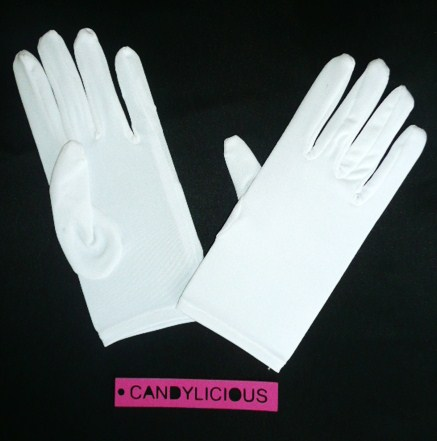 gloves--short-lycra--white