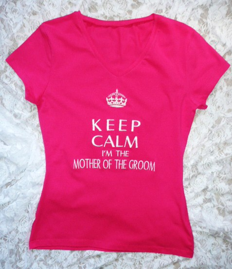 &quotkeep-calm-i'm-the-mother-of-the-groom&quot--t-shirt-