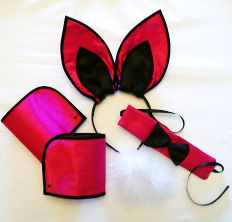 playboy-bunny-set--cerise-pink-&amp-black---5piece-set-