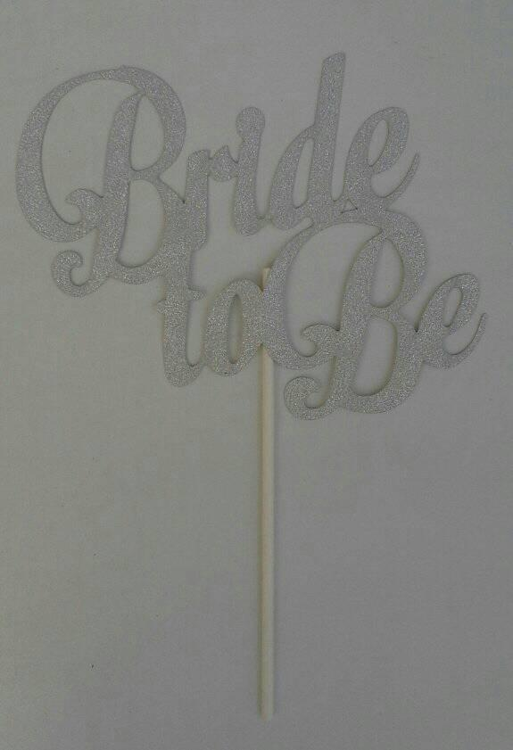 bride-to-be--cake-topper--silver