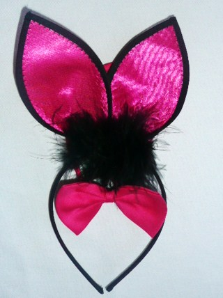 playboy-bunny-ears-&amp-bowtie--cerise-pink-&amp-black-