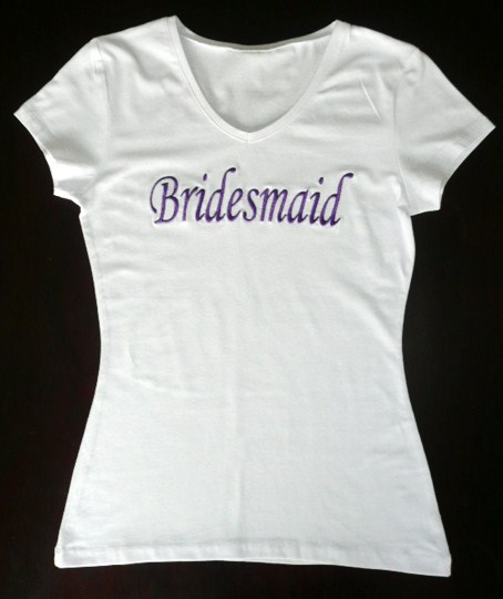 &quot-bridesmaid-&quot--white-t-shirt-