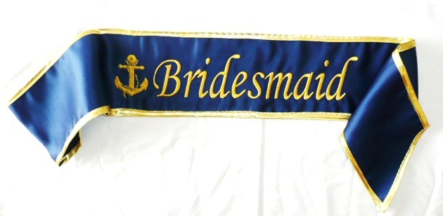 &quotbridesmaid-&quot--anchor--satin-sash-