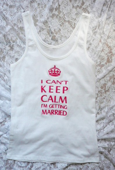 &quoti-cant-keep-calm-i'm-getting-married&quot--tank-top-
