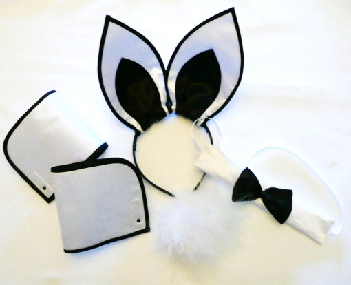 playboy-bunny-set--silver-&amp-black---5piece-set-