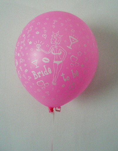 &quotbride-to-be&quot-balloon--balloon-stick--pink-with-white-