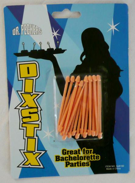 &quotdick-stixs&quot--pecker-cocktail--toothpick-sticks--10-qty