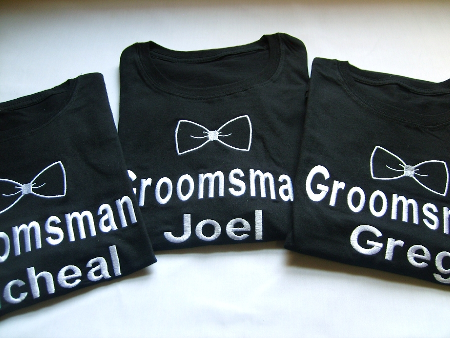 groomsman--name-and-bowtie--t-shirt--each-
