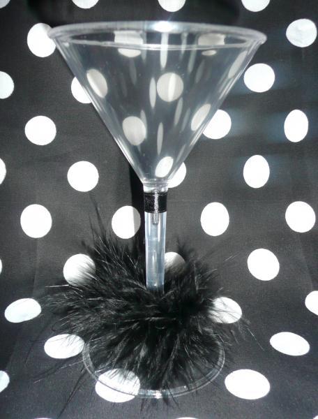 martini-glass--5--piece-black-marabou-trim-&amp-ribbon-